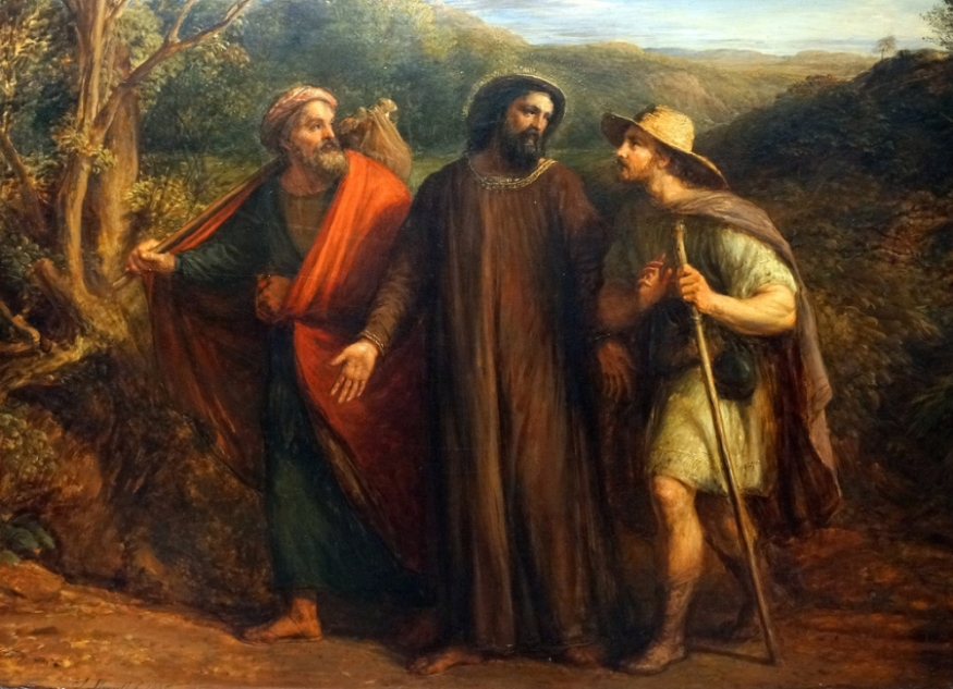 Christ and His Disciples on Their Way to Emmaus - Pieter Coecke van Aelst